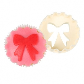 FMM CUTCUP4 Double Sided Cupcake Cutter Bows & Scallop