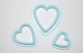 Windsor Set Of 3 Heart Cutters