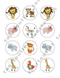 Wilde dieren cupcake 5
