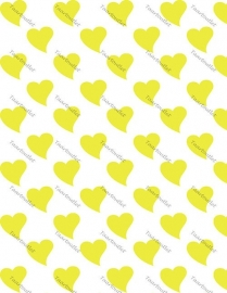 Hartjes geel