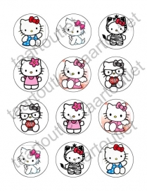 Hello Kitty 3 cupcake