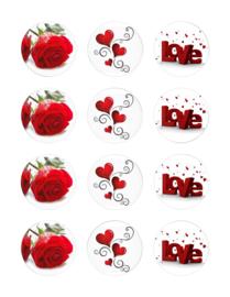 Liefde/Valentijn  cupcake 1