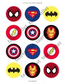 Superhelden cupcake 1