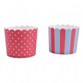 337084 Städter baking cups rood-blauw maxi