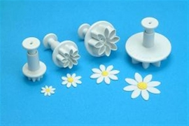 PME DA634 daisy/marquerite plunger cutter set van 4