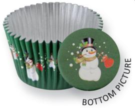 PME BC764 Snowman Foil Baking Cups 30 stk