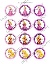 Disney prinsessen cupcake  2
