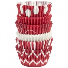 Wilton 415-5936 Mini Baking Cups Candy Cane pk/150