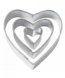 Wilton uitsteker hart, set van 3