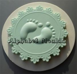 AM0113 Baby Feet Cupcake Topper