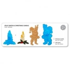 JEM 102C1003 Jolly Santa & Christmas Candle
