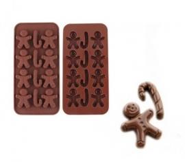 chocolate mold kerst 1