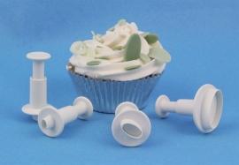 PME MO154 Miniature Oval Plunger Cutter set van 4
