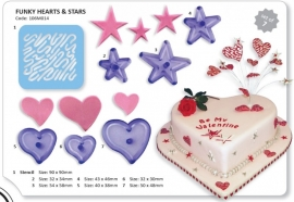 JEM 106M014 HEARTS AND STARS SET OF 7