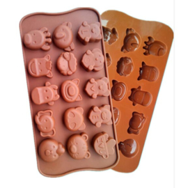 chocolate mold Dieren 2