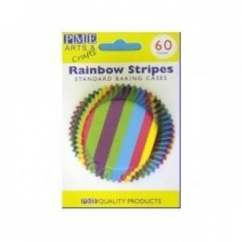 PME BC729 Rainbow Stripes Baking Cups 60 stuks