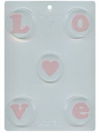 CK 90-16001 Chocolate Cookie Mold LOVE