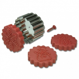 170704 Städter plunger cookie cutter Winter/Kerst set van 3