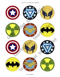 Superhelden cupcake 2