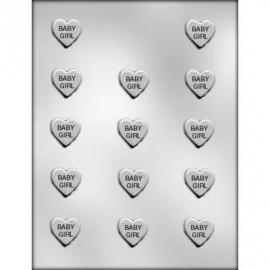 CK 90-11509 BABY GIRL HEART CHOC MOLD