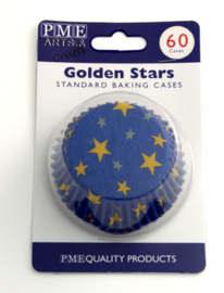 PME BC730 Golden Star Baking cups 60 stk