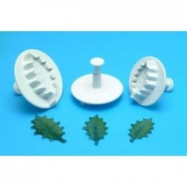 PME HLL662 Veined Holly Leaf Plunger Ctr Xx Lg 50mm