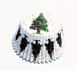 PME BC763 Christmas Tree Foil Baking Cups 30 stk