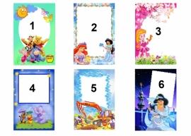A4 eigen ontwerp  frame voor kinderen