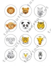 Wilde dieren cupcake 6