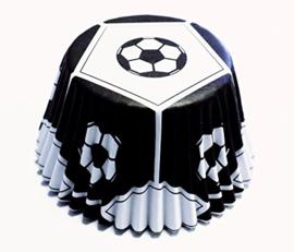 PME BC765 Black Football Foil Baking Cups 30 stk