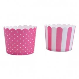 337053 Städter baking cups roze-wit mini