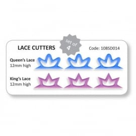 JEM 108SD014 Lace Cutters King & Queen set of 2