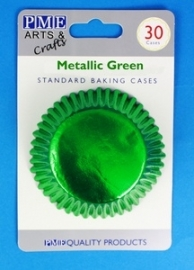 PME BC757 Metallic Green Standard Baking Cases 30 Pk