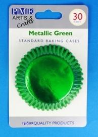 PME BC757 Metallic Green Standard Baking Cases 30 Pk