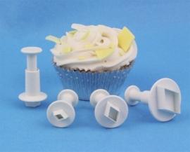 PME MD153 Miniature Diamond Plunger Cutter set van 4