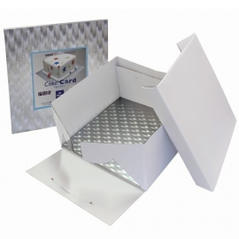 PME BCS872 Cake Box & Square Cake Board (3mm) 20x20x15 cm