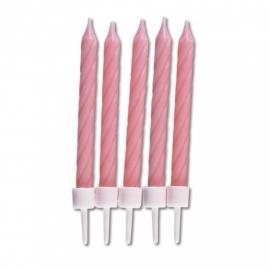 910157 Städter kaarsjes zacht roze 10stk
