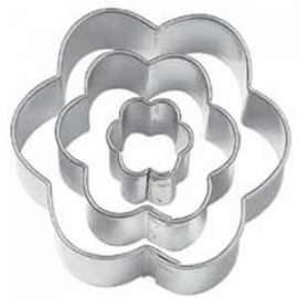 Wilton Blossom 417-2586 Fondant Double Cut-Outs Set/6