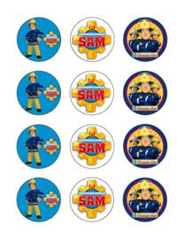Brandweerman Sam cupcake 1