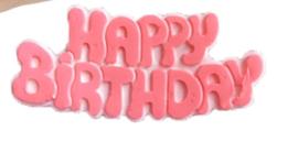 CV 328 - Happy birthday mold