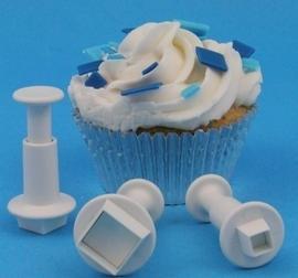 PME MS152 Miniature Square Plunger Cutter set van 3