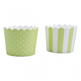 337039 Städter  baking cups limegroen-wit mini