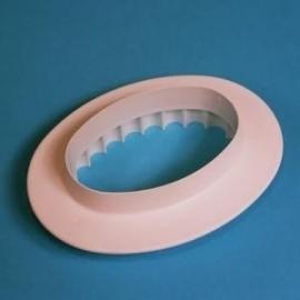PME OP516 Plain Fluted Oval Plaque 127mm
