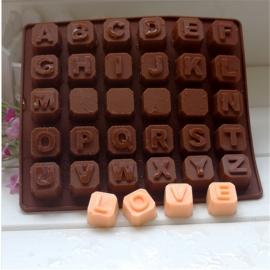 chocolade mold alfabet