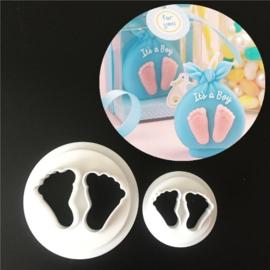 Baby voetjes cutters set van 2