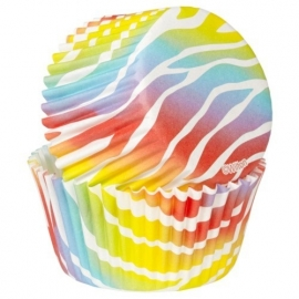 Wilton 415-2125 Baking Cups Zebra Brights pk/75
