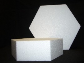 Taartdummie hexagon 15X7 CM