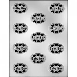 CK 90-11513 OVAL BABY BOY CHOC MLD