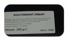 I rolfondant zwart 250 gram