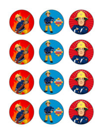 Brandweerman Sam cupcake 3